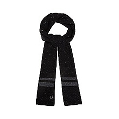 Fred Perry - Black space dye scarf