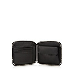 Fred Perry - Black textured grain zip around wallet