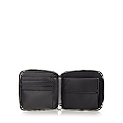 Fred Perry - Black textured grain wallet