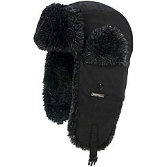 Trespass - Black 'Sherwood' trapper hat