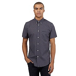 BEN SHERMAN - Big and tall navy checked short sleeved shirt