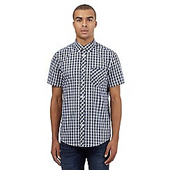 BEN SHERMAN - Big and tall navy checked shirt