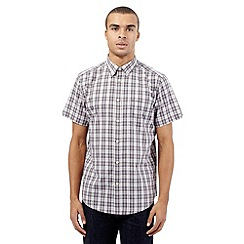 Ben Sherman - Big and tall grey checked short sleeved shirt
