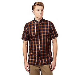Fred Perry - Black bold gingham regular fit short sleeved shirt