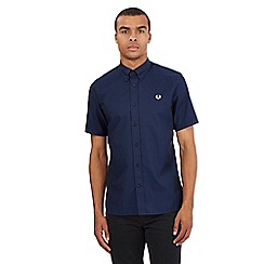 Fred Perry - Navy logo buttoned shirt