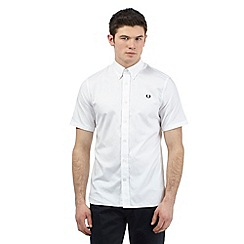 Fred Perry - Big and tall white twill oxford shirt