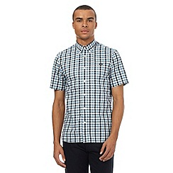 Fred Perry - Blue gingham print logo shirt