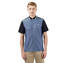 Fred Perry - Blue chambray short sleeved shirt