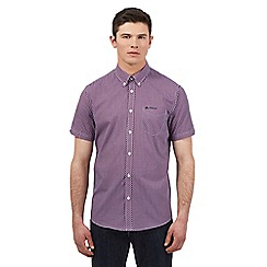 BEN SHERMAN - Red grid print short sleeve shirt