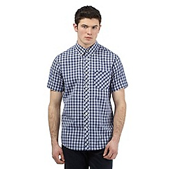 BEN SHERMAN - Big and tall navy checked print shirt