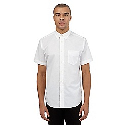 BEN SHERMAN - White short sleeved Oxford shirt