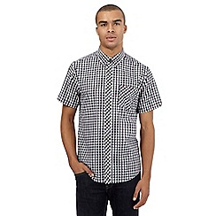 BEN SHERMAN - Big and tall navy gingham shirt