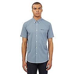 BEN SHERMAN - Blue mini checked shirt
