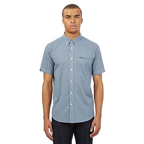 Ben Sherman Blue Mini Checked Shirt Debenhams