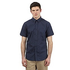 BEN SHERMAN - Big and tall navy dotted print shirt