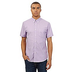 BEN SHERMAN - Big and tall purple long sleeved shirt