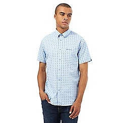 BEN SHERMAN - Big and tall blue party square shirt