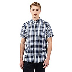 Ben Sherman - Big and tall navy sketch checked print shirt
