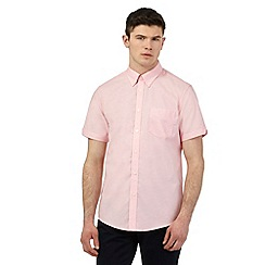 Ben Sherman - Big and tall pink short sleeved shirt