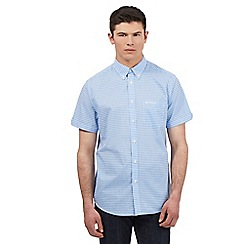 BEN SHERMAN - Big and tall light blue gingham check print shirt