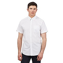 Ben Sherman - Big and tall white dot print shirt