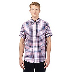 BEN SHERMAN - Red checked print shirt