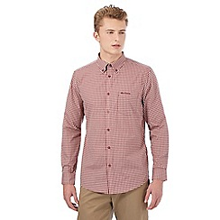Ben Sherman - Big and tall red gingham long sleeved shirt