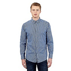Ben Sherman - Big and tall blue gingham checked shirt