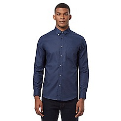 Ben Sherman - Big and tall navy long sleeved shirt