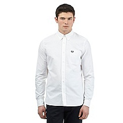 Fred Perry - White long sleeved Oxford shirt