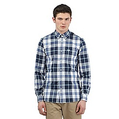 Fred Perry - Navy checked print shirt