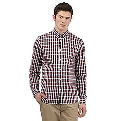 Fred Perry - Red herringbone checked shirt