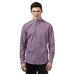 BEN SHERMAN - Big and tall purple geometric print checked shirt