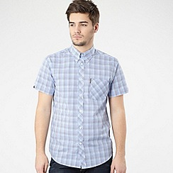 BEN SHERMAN - Bright blue gingham shirt