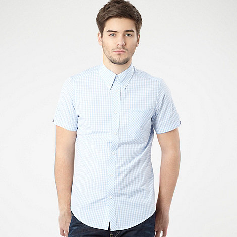 Ben Sherman - Pale blue gingham shirt