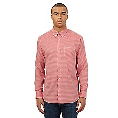 Ben Sherman - Big and tall red gingham shirt