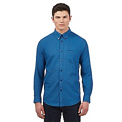 BEN SHERMAN - Big and tall blue tonal gingham check shirt