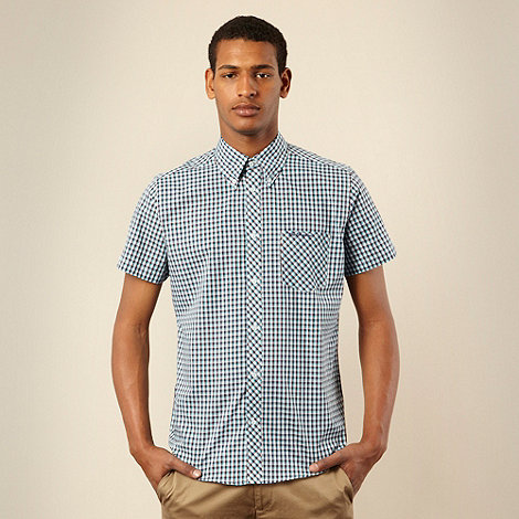 Ben Sherman - Light blue mini checked shirt