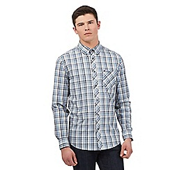 BEN SHERMAN - Big and tall grey marl checked shirt