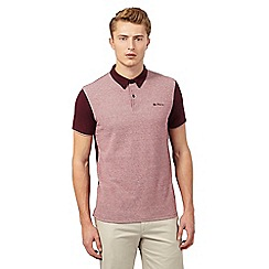 Ben Sherman - Big and tall maroon waffle polo shirt