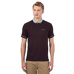 Ben Sherman - Big and tall dark purple polo shirt