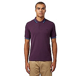 Fred Perry - Purple twin tipped slim fit polo shirt