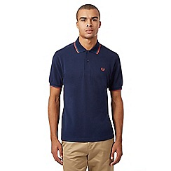 Fred Perry - Navy twin tipped logo polo shirt