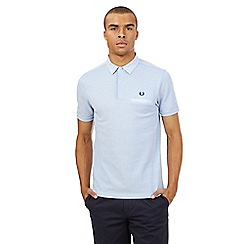 Fred Perry - Big and tall light blue logo slim fit polo shirt