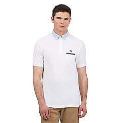 Fred Perry - Big and tall white oxford collar polo shirt