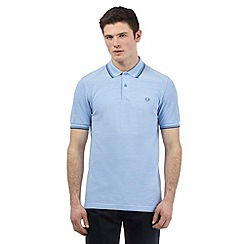 Fred Perry - Big and tall light blue twin tipped slim fit polo shirt