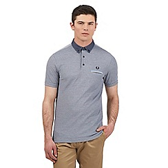 Fred Perry - Navy Oxford collar polo shirt