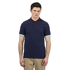 Fred Perry - Big and tall blue slim fit polo shirt