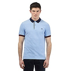 Fred Perry - Big and tall light blue colour block polo shirt