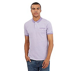 BEN SHERMAN - Big and tall purple tonic pique polo shirt